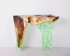maximo riera manufactures the millennial console collection from ancient trees