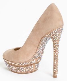 Yes I know they're impractical but I still want them! Brian Atwood - Nude #Heels #Fashion