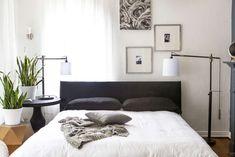 59 Best Ideas For Bedroom Window Behind Bed Apartment Therapy Decor, Window Bed, Window Behind Bed, Bed Wall, Home Decor, Minimalist Bedroom, Bed, Remodel Bedroom, Bedroom