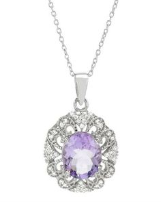2d8ed4076 Brand New Necklace With 3.75ctw Precious Stones - Genuine Amethyst and  Topazes Well Made in 925 Sterling silver Length 18in - Certificate  Available.