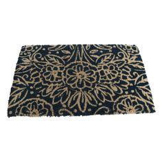 Natural Floral Coir Mat