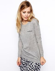 ASOS Jumper With Call Me Patch