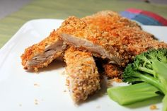 Making a healthy and tasty chicken with Parmesan crust in our own kitchen. Healthy, tasty and easy to make!