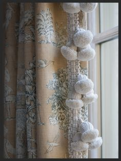 Hodsoll Mckenzie draperies with Smith and Brighty trim.  Linda Kay McCloy - alittleenglishinteriors.com