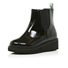 Girls black patent military boots #riverisland #kidswear ...