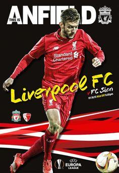 Liverpool 1 - 1 FC Sion Europe League Europa League, Liverpool Fc, Kicks, Baseball Cards, Sports, Movies, Europe, Program Management, Hs Sports