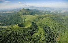 The Puy de Dôme is a mountain located in Auvergne (in the middle of France). There, all the mountains are old volcanos with an important geological history. Auvergne is a very green region where all nature lovers will find peacefull activities. www.frenchessentials.com