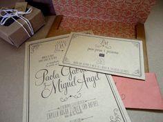 Invitación y Tarjeta para Pase, Regalo y Dirección / Invite and Gift-Address card