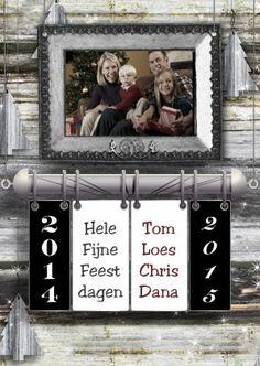 #Kerstkaarten.Nieuw in de collectie!Met ruimte voor een eigen foto.Volg;Kerst kalender fotolijst 2015 d - Kerstkaarten - Kaartje2go