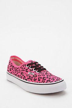 Vans Authentic Neon Leopard Print Canvas Sneaker