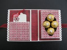 carte chocolat et tutoriel Card Making Tips, Making Ideas, 3d Paper Crafts, Diy And Crafts, Gifts For Cooks, Stampin Up Christmas, Candy Gifts, Paper Cards, Creative Cards