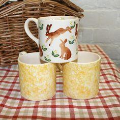 hares handmade creamware mug
