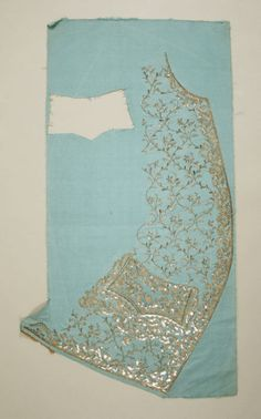 c. 1760  Waistocat (uncut)  Met  Look at how stunning the embroidery is!