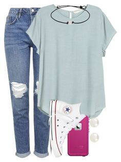 """sry so many sets rly bored"" by lydiamorrison ❤ liked on Polyvore featuring Topshop, H&M, Accessorize, LifeProof and Converse"
