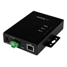 StarTech.com 2 Port Serial-to-IP Ethernet Device Server - RS232 - Met, Grey #NETRS2322P