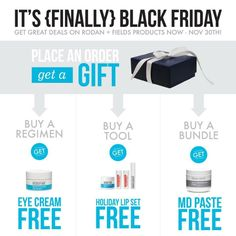 Black Friday Specials!  Great Gift Ideas and On-Line Shopping!!  Give the Gift of Beautiful Skin!!
