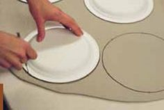 How to Make Molded Plates Using a Paper Plate as a Press Mold