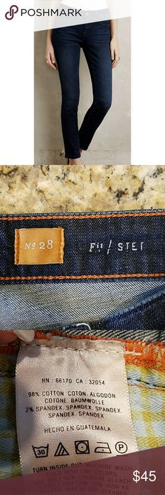 Pilcro Stet Ankle Jeans Great jeans in like new condition. There are no tears, stains or fraying of any kind. The inseam measures 25 inches.   A classic mid-rise skinny clipped just above the ankle. From Pilcro, an Anthropologie-exclusive collection crafted from the highest quality denim.  Cotton, spandex, Skinny fit, Five-pocket styling, Machine wash. Anthropologie Jeans Ankle & Cropped