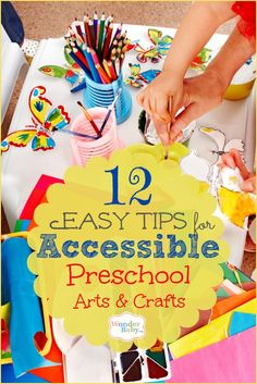 Can a blind preschooler be included in preschool arts and crafts? Of course! With a little planning and forethought, preschool crafts can be completely accessible.