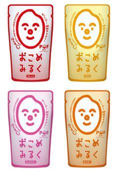 金沢の酒蔵「福光屋」(金沢市石引、TEL 076-223-1161)は9月17日、有機肥料使用の契約栽培米を100%使った米醗酵飲料「POF飲料おこめみるく」を発売した。 Japanese Sake, Package Design, Seafood, Asia, Packing, Phone Cases, Drink, Bottle, Sea Food