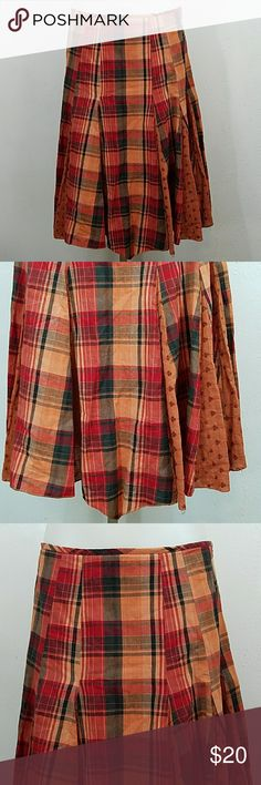 "Plaid Skirt by John Paul Richard Plaid Skirt by John Paul Richard. In great condition. Size small.  Waist 32"" Length 25"" 100% Cotton John Paul Richard Skirts"