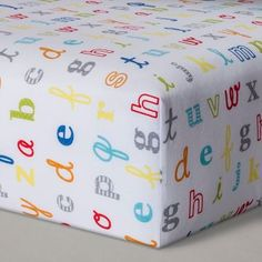 Fitted Crib Sheet Classic Alphabet - Cloud Island™ - White