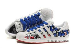 13dd4c592383 Casual Womens Adidas Superstar 35th Anniversary 365 Days Return Sneaker  White Blue Red TopDeals