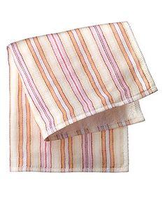 Morihata Yoshii Mini Towel Orange / Lavender Shirt Stripe   Spirit Beauty Lounge-  Great way to clean up and green up.
