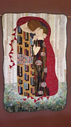 "Fibre art - klimt ""the kiss"""