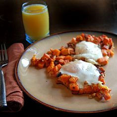 Sweet Potato Eggs....with bacon...forgot to mention the Bacon :)