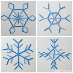 Make a DIY Popsicle Stick Snowflake Building Kit