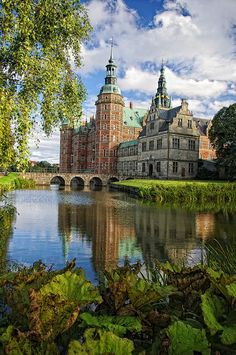 Frederiksborg Castle, Hillerød, Denmark, where members of the Danish Royal Family waved at us, up close and personal.