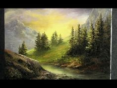 Paint with Kevin - Palette Knife only - Mountain Sunlight - YouTube