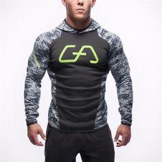 2016 hombres casual clothing sudaderas con capucha de marca de fitness camisetas chándales hombres músculo culturismo sudadera con capucha chaquetas envíos gratuitos en todo el mundo