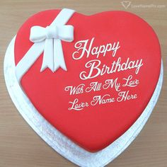 Online Lover Birthday Cake Generator With Name Photo - Happy Birthday Wishes