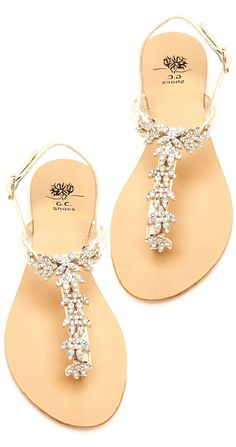 Jeweled Summer Sandals //