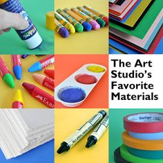 quality art supplies from The Eric Carle Museum Art Studio Animal Art Projects, Art Therapy Projects, Art Projects For Adults, Kid Projects, Project Ideas, Shape Collage, Eric Carle, Hand Art, Preschool Art