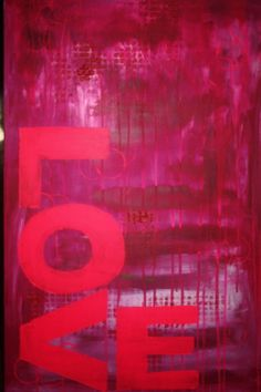 "Saatchi Art Artist: Adele Hetherington; Paint 2012 Painting ""PINK LOVE"""