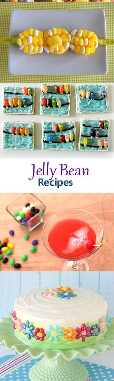 11 creative recipes that use jelly beans for Easter and for leftover Easter candy. The roundup includes Jelly bean cakes, jelly bean doughnuts, jelly bean cookies, and even a post on how to make homemade jelly beans.