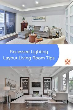 Good lighting design is particularly crucial when it comes to living rooms, which is arguably the most popular room of any home. Achieve the perfect lighting design for your living room with these recessed lighting ideas. Bathroom Recessed Lighting, Recessed Lighting Layout, Installing Recessed Lighting, Cool Lighting, Lighting Ideas, Lighting Design, Outdoor Lighting, Living Room With Fireplace, Living Rooms