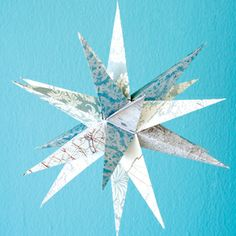 Making a paper star - includes template.