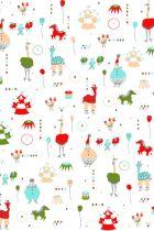 Circus Troupe Wallpaper for half bath
