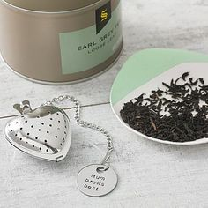 Personalised Heart Tea Diffuser via The Cutlery Commission at NotOnTheHighStreet