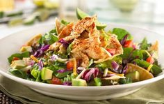 T.G.I. Friday's Chipotle Yucatan Chicken Salad: The lettuce is the only healthy thing about T.G.I. Friday's Chipotle Yucatan Chicken Salad, which is packed with 60 grams of fat and 860 calories. (Photo: Inonit)