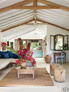 bright and colorful beach house