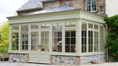 Orangery Best Picture For small sunroom addition For Your Taste. You are in the right place about Garden Room Extensions, House Extensions, Kitchen Extensions, Orangerie Extension, Small Sunroom, Sunroom Addition, Enclosed Porches, Home Additions, Glass House