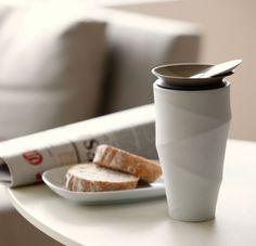 'wave' commuter mug