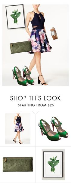 """""""bag"""" by masayuki4499 ❤ liked on Polyvore featuring XSCAPE, Christian Louboutin and HOBO"""