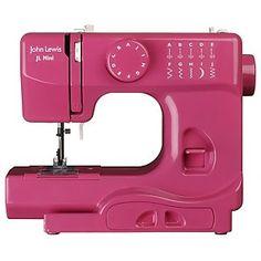 Learn to sew (John Lewis Mini Sewing Machine, Fuchsia)