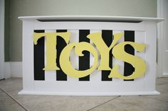 Hand painted Toy Chest by HeatherMow on Etsy, $280.00